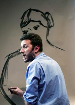 Marco Michel beim Malen